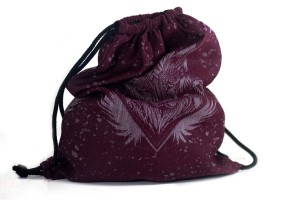 BACKPACK THE WOLF BURGUND SNOW